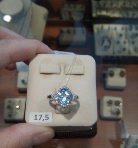 Кольцо серебрянное с биркой