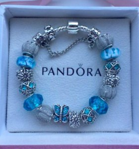 Браслет pandora голубой