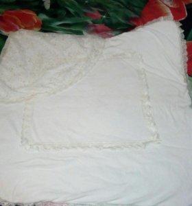 Одеяло-конверт на выписку цвета шампань