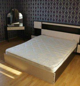 Кровать с закроватным модулем КР-552 F-10