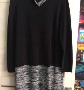 Вязаное платье  на 50-52 р