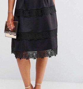 Новая юбка с кружевом