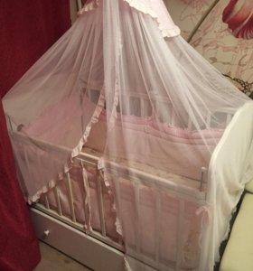 Детская кроватка 'бабочки'