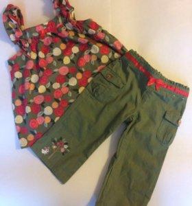 Пакет одежды на девочку 4-5 лет.