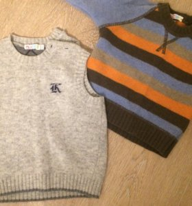 Свитер и жилетка шерстяные для мальчика