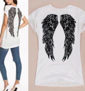 Стильная футболочка с крыльями!