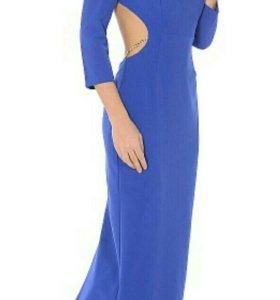Новое синее платье на выпускной