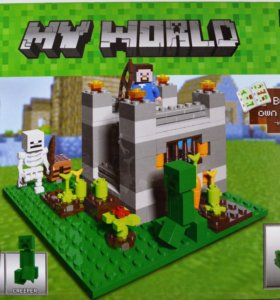 Конструктор Minecraft My World, новый товар
