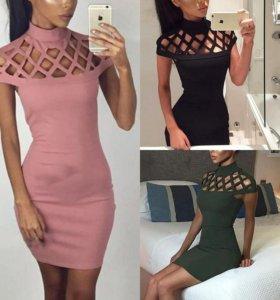 Платье короткое,  черное, размер м,  новое