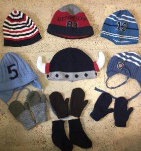 Шапочки рукавички на 1,5-2,5 года