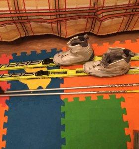 Лыжи беговые детские Fischer р160 ботинки fischer