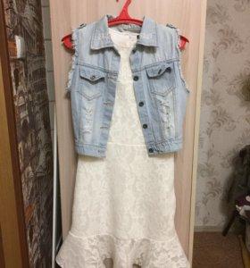 Платье ,жилетка -новое