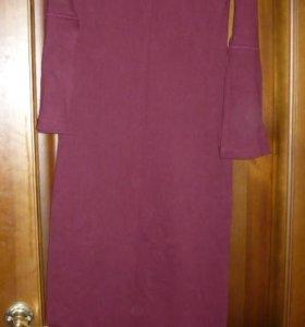 Длинное трикотажное платье р. 42