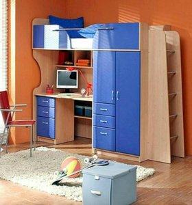 Гарнитур кровать+стол+матрац+6 ящиков