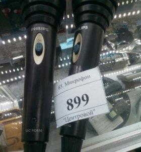 Два микрофона для караоке Philips
