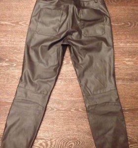 Новые кожаные брюки(экокожа)