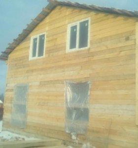 Дома из бруса с бревна и каркасные