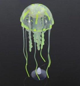 Медуза силиконовая салатовая 5,2 см