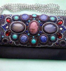 Вышью сумку или украшения с нат.камнями, стразами
