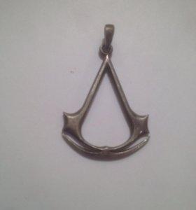 Подвеска ассасина серебро