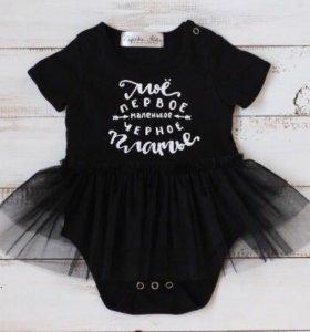 Моё первое чёрное платье! 92-98 размер