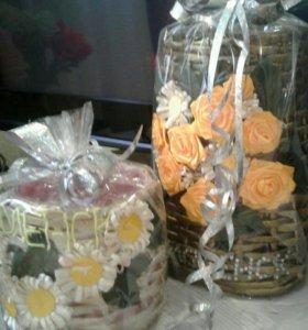 Корзинки,вазы плетеные