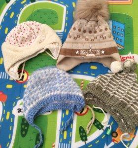 Зимние детские шапочки