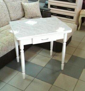 Стол обеденный ломберный раскладной с ящиком.