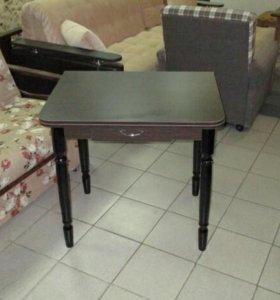 Стол раскладной с ящиком обеденный цвет венге
