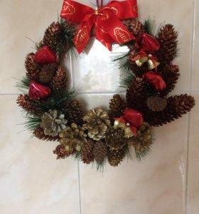 Новогодние , рождественские венки ( подвесные)