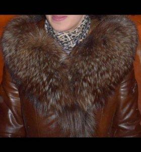 Зимняя кожанка . Натуральная кожа и мех .!!!