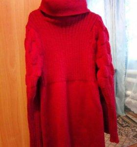 Шерстяная туника платье