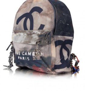 💖 Рюкзак Chanel Graffiti серый