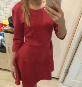 Новое платье замша