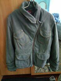 Джинс куртка теплая,стильная