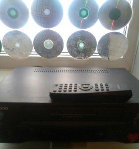 Видеомагнитофон Daewoo + 50видеокассет