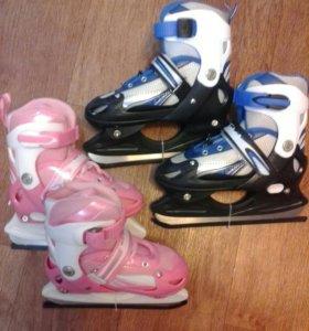 Новые коньки ледовые