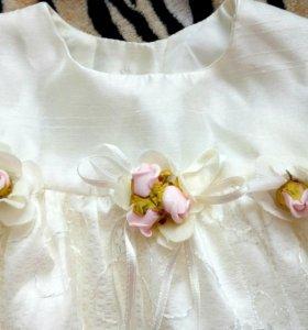Красивое платье для девочки 1-6 мес.