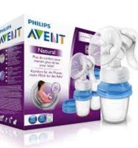 Молокоотсос Philips Avent Natural. Новый!