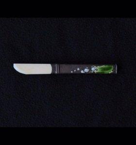 """Винтажный нож для бумаг """"Ландыши"""". Кость, металл"""