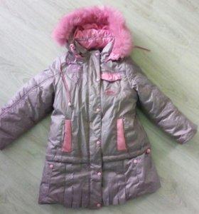 Зима- Осень пальто на 5-6лет
