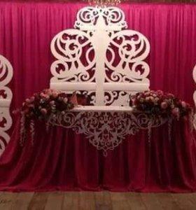 Свадебное оформление, резная арка