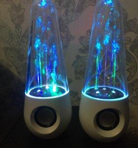 USB Колонки Светодиодные Водные