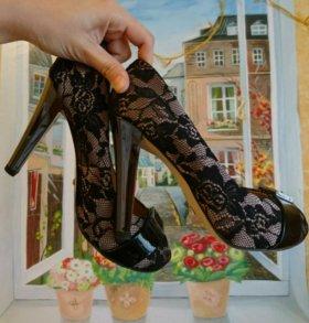 Туфли кожа кружево 38