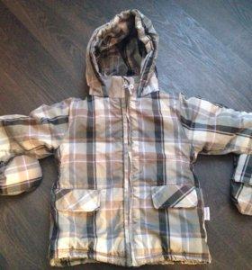 Куртка с варежками 80 размер