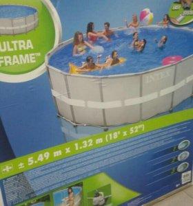 Каркасный бассейн Интекс.