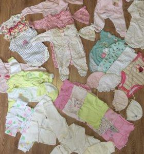 Вещи на девочку 0-3 месяца пакетом