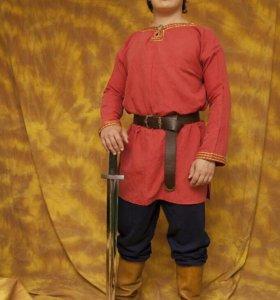 Русская костюм с красной рубахой (прокат)
