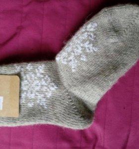 Носки шерстяные со снежинками