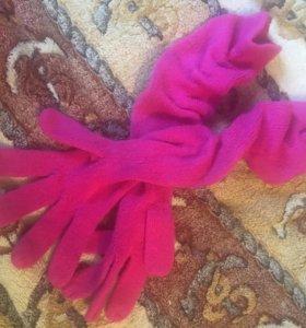 перчатки розовые длинные